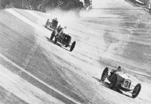 Delage 15 S 8  Earl Howe leads Delage 10.5 and Panhard  Brooklands c.1931